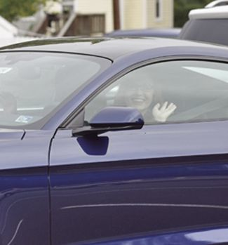 Jennifer Powers test drives a Ford Mustang