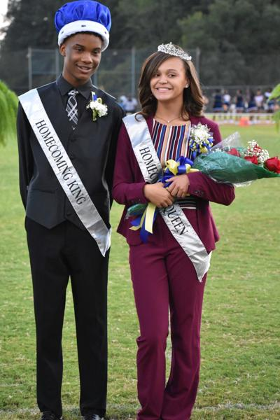 Homecoming King Tyshon Walker and Homecoming Queen Allanah Smith