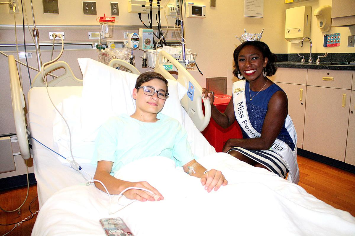 MIss Pennsylvania visits Janet Weis Hospital