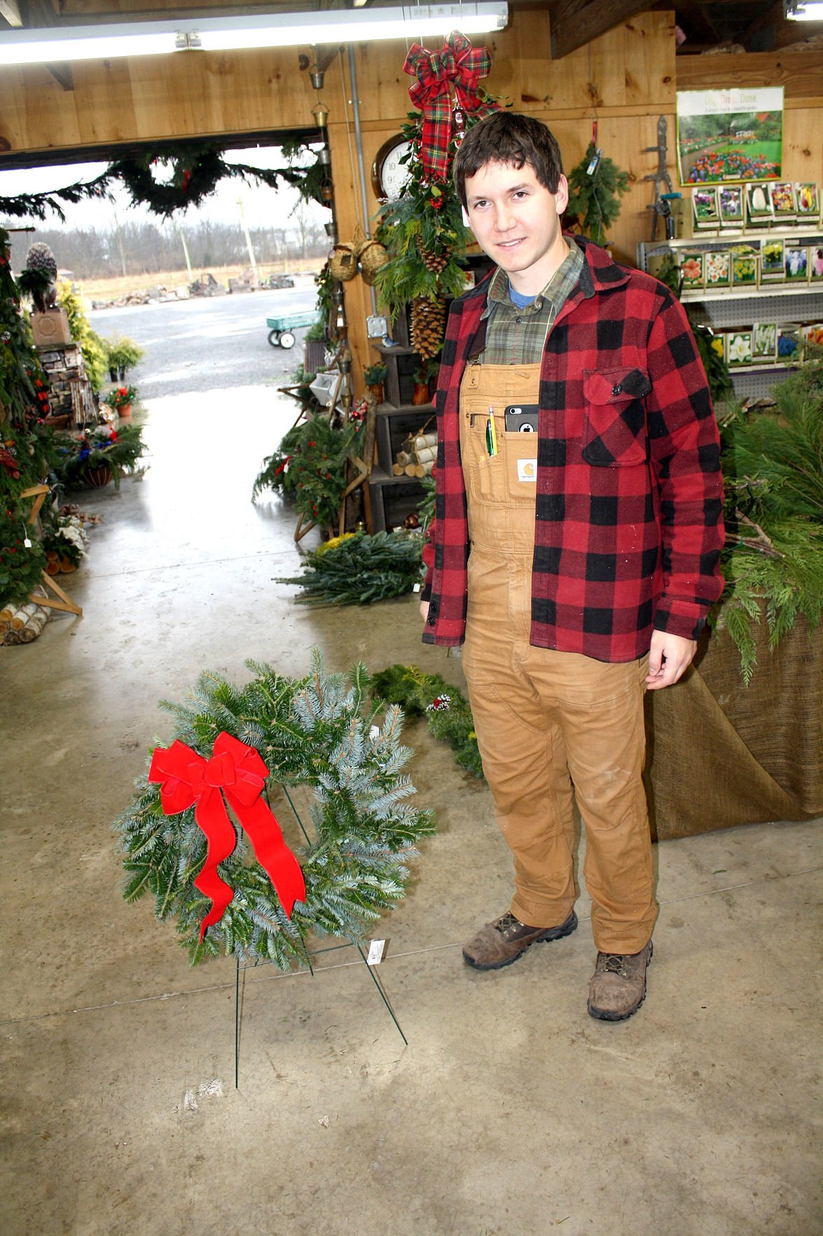 Wreath maker began young