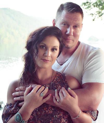Amy Hall and Christopher Magyar