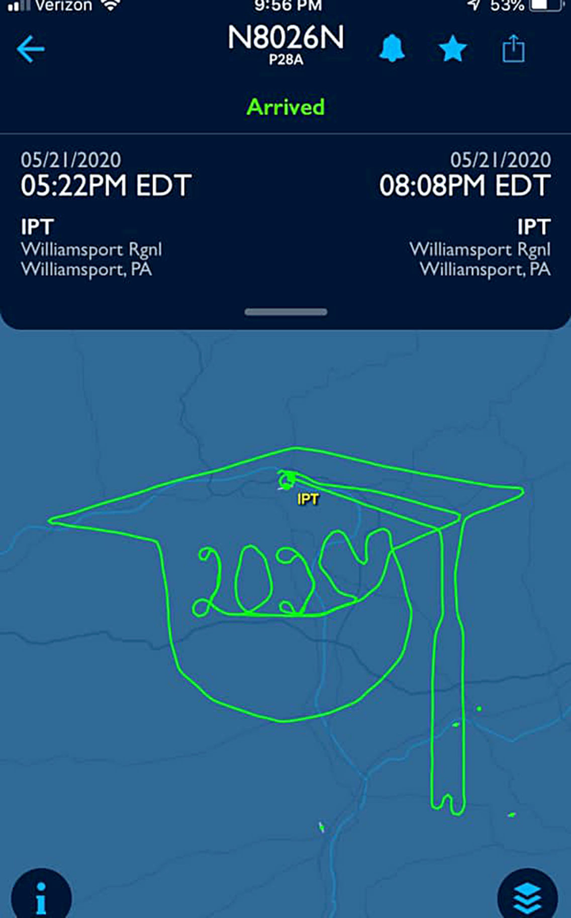 An airborne salute to the Class of 2020