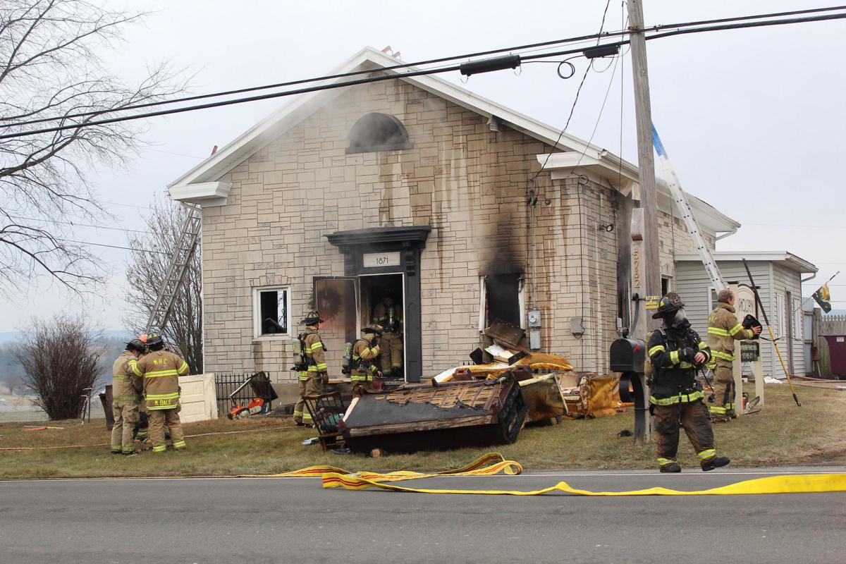 Flames damage Union County upholstery business
