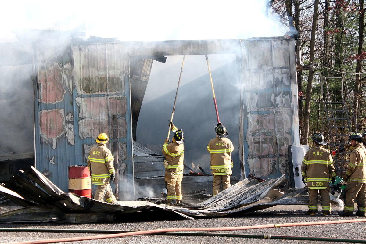 Mazeppa area strucutre heavily damaged by fire