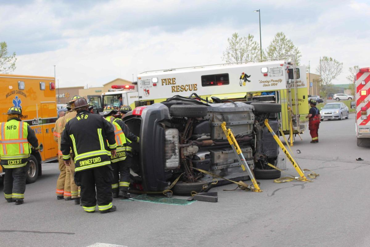 Vehicle flips near Lewisburg