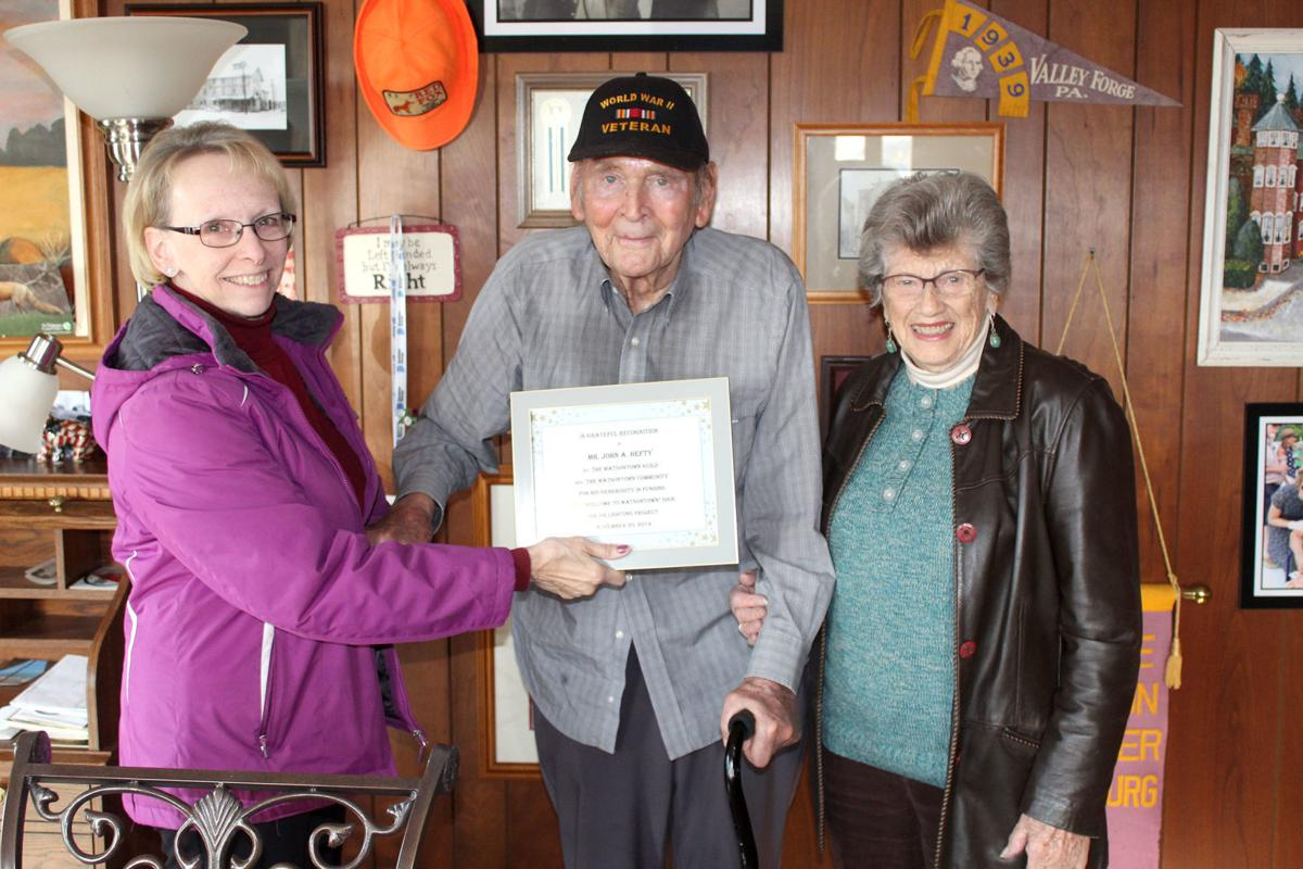 Hefty recognized for contribution