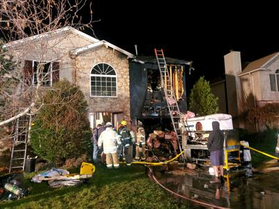 Fire victim treated for smoke inhalation