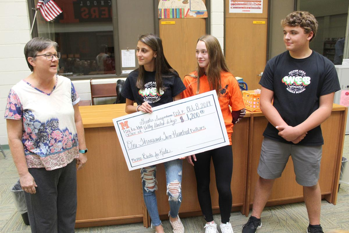 Milton students donate $1,200 to United Way