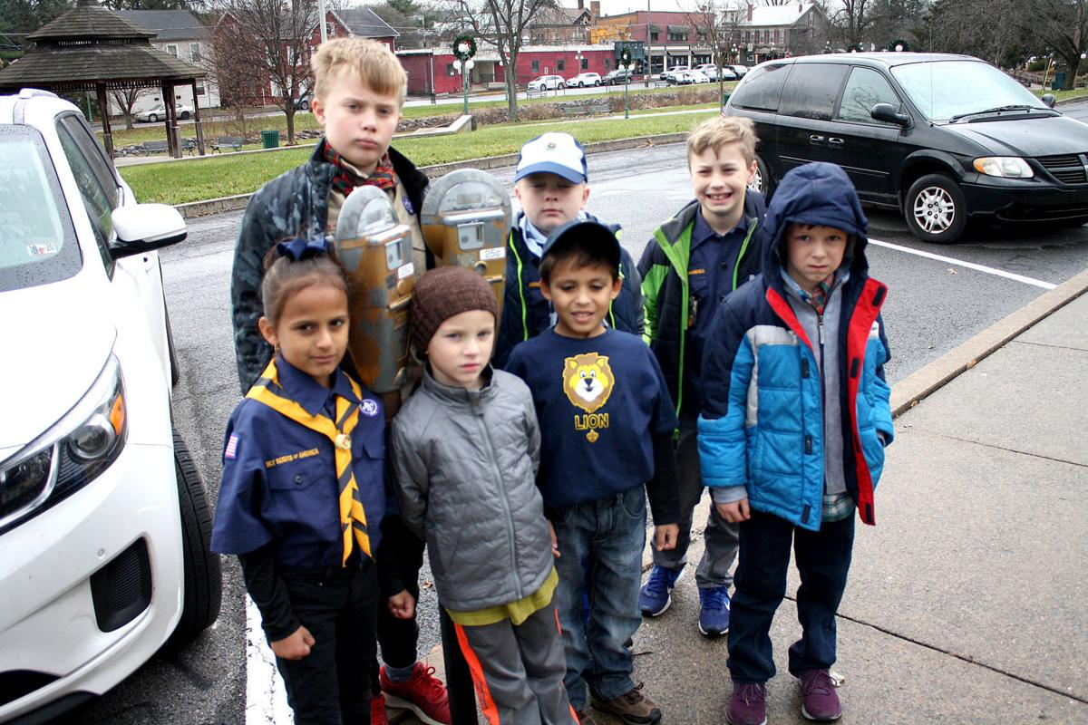 Scouts help out downtown