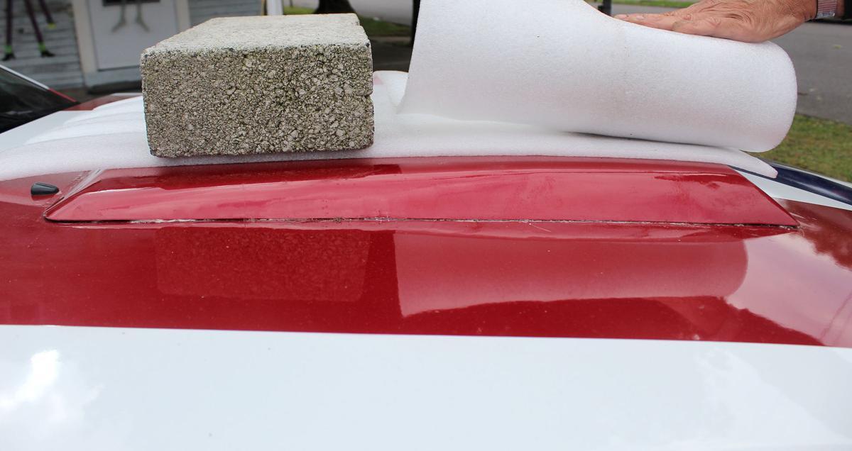 Police investigating damage to patriotic Mustang