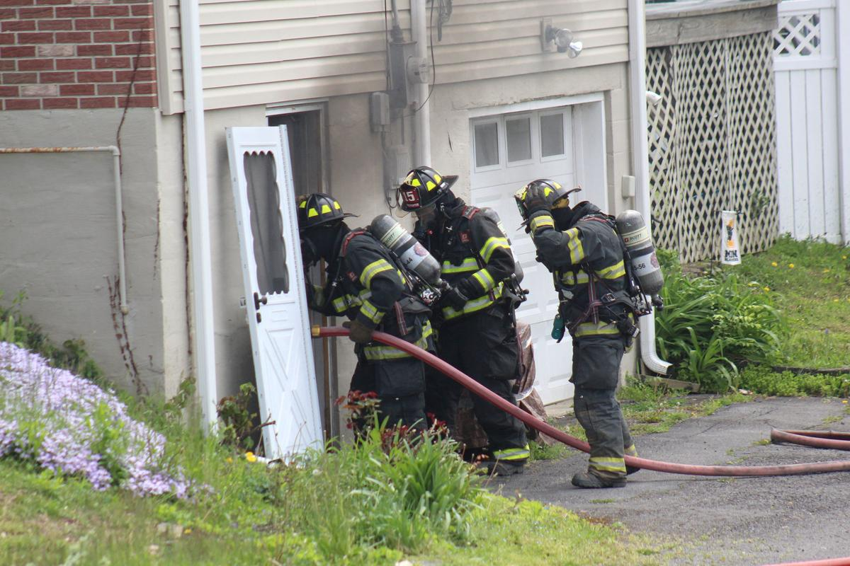Basement fire quickly doused