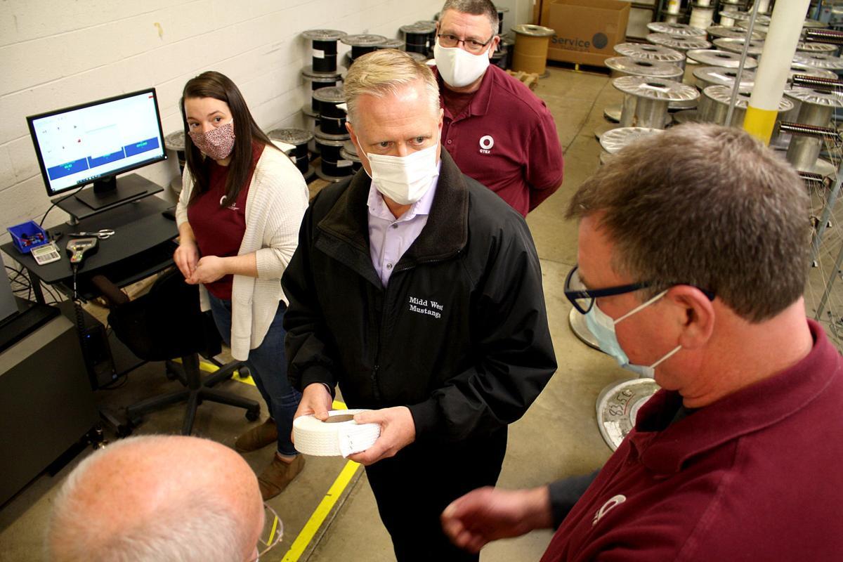 Congressman visits specialty fabric manufacturer