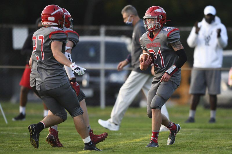 Bisbey's five touchdowns carries Edgewood to first win