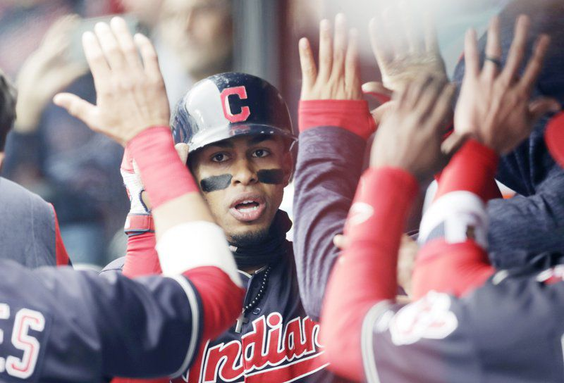 4b74d6faa2a1 Lindor hits 2 HRs, 2 doubles to help Indians beat Royals 6-2   Local ...