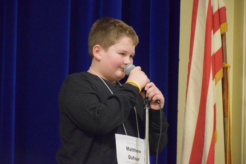 Dufour is county's spelling bee champ for second year in a row
