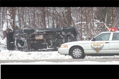 No Injuries As Vehicles Slide Off Icy Roads Snow Returns Today