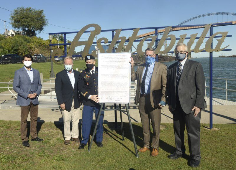 Officials sign project agreement in Ashtabula Harbor