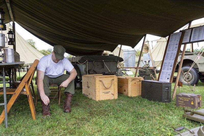 D-Day reenactors invade Conneaut Township Park to do battle