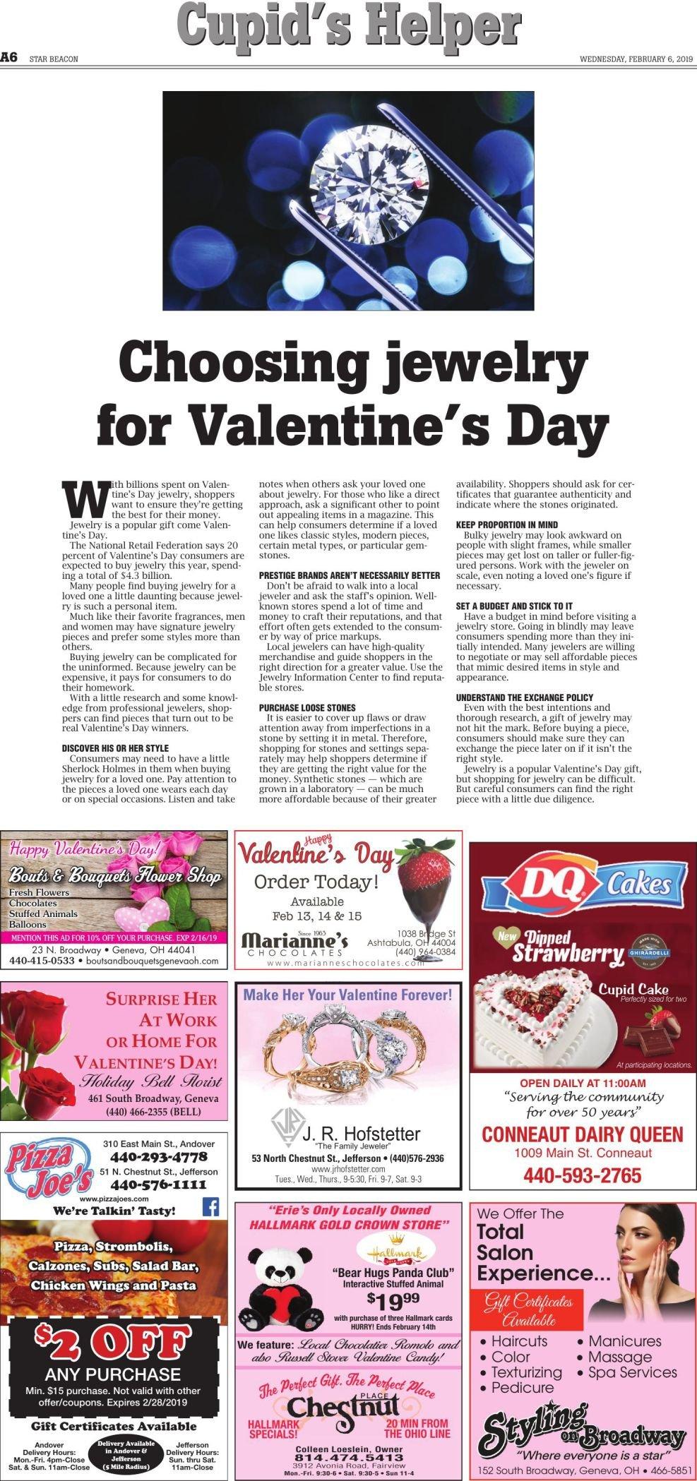 Valentine Page Wednesday, February 6, 2019