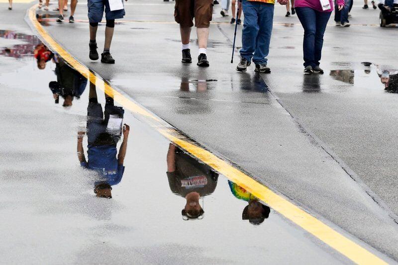 Rain pushes NASCAR playoff race at Talladega to Monday