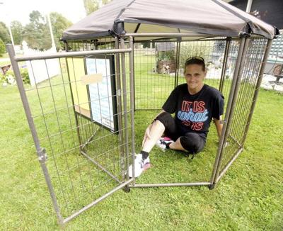 Day in cage for animals