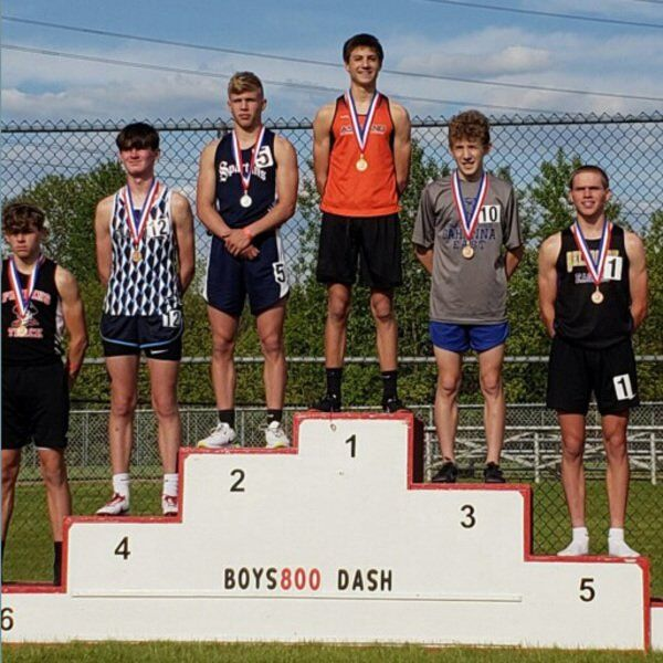 Eaton takes 2nd in 800 at state junior high track championships
