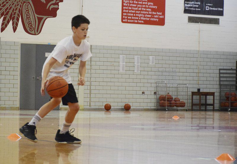 Young Warriors improve their skills at Edgewood's basketball camp