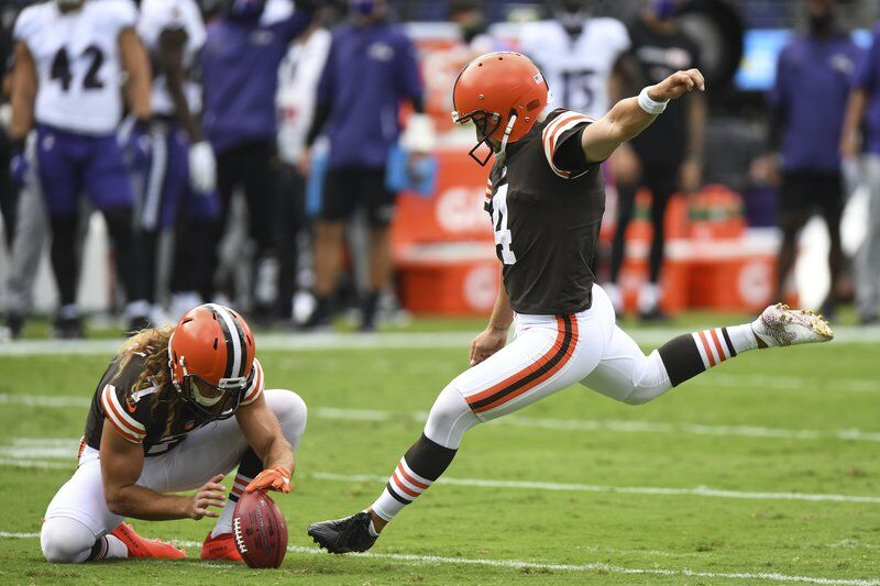 Kicked off: Browns waive K Seibert after 2 misses in opener