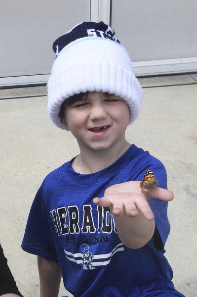 St. John School teacher releases butterflies