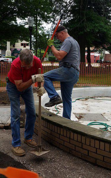 Cornelius Park fountain restoration continues