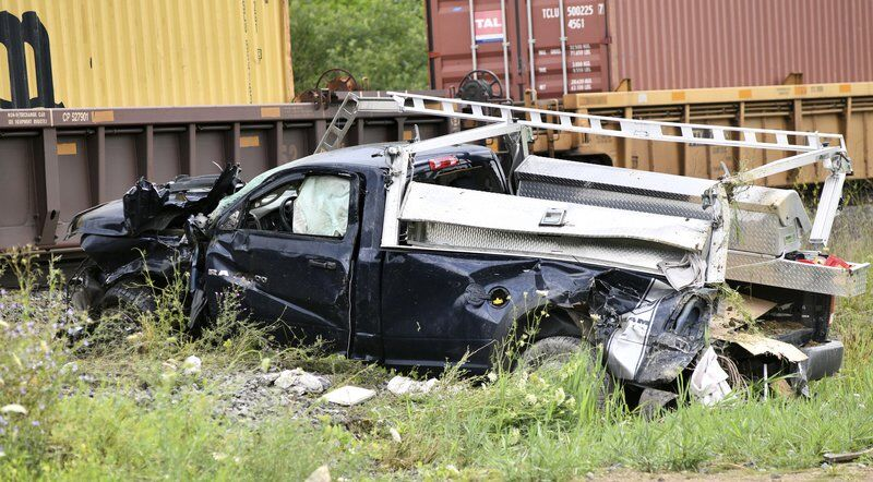 Troopers dealwith train crash and pursuit