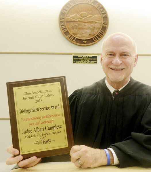 Judge honored with service award, says others deserve the praise