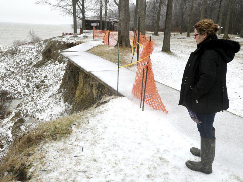 Geneva Township Park loses chunk of land to erosion