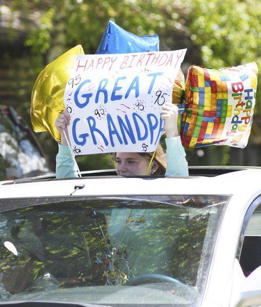 Geneva man celebrates 95th with drive-byparty