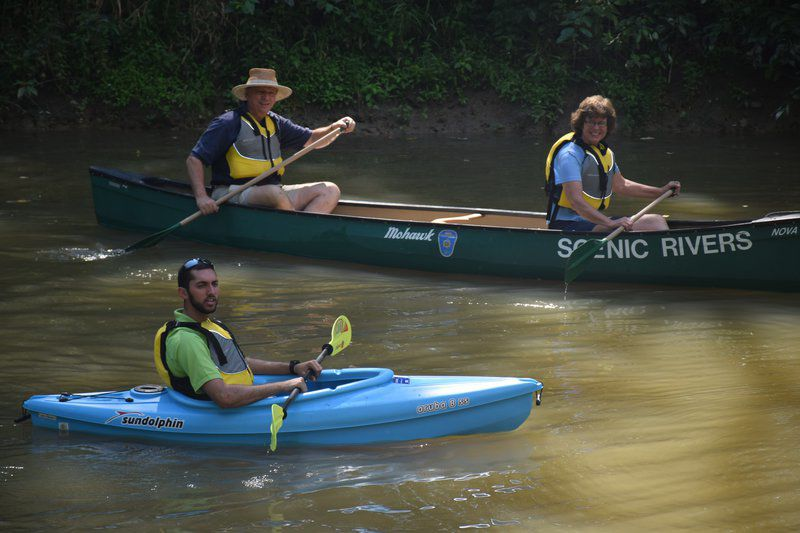 Area leaders celebrate Scenic Rivers with a 'leisurely float'