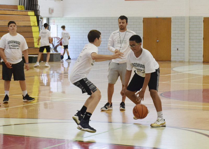 Young Warriors improve their skills at Edgewood'sbasketball camp