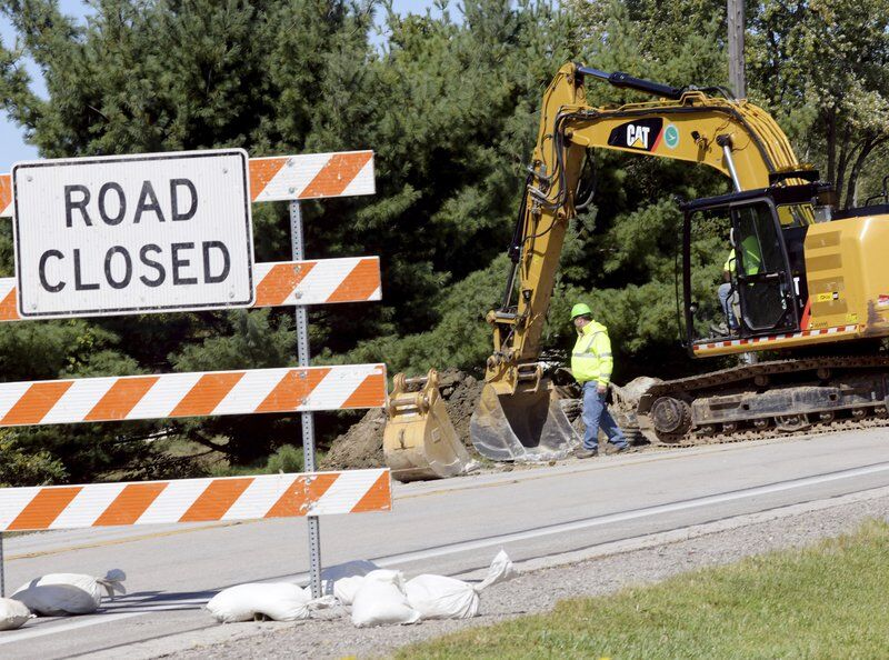 Route 7 closed in Monroe Township