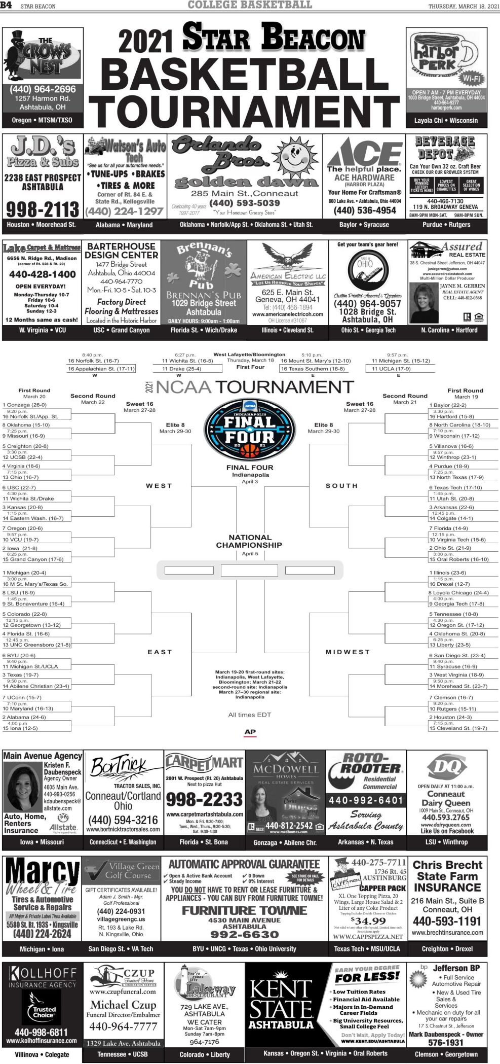 MARCH MADNESS - Marc 18, 2021