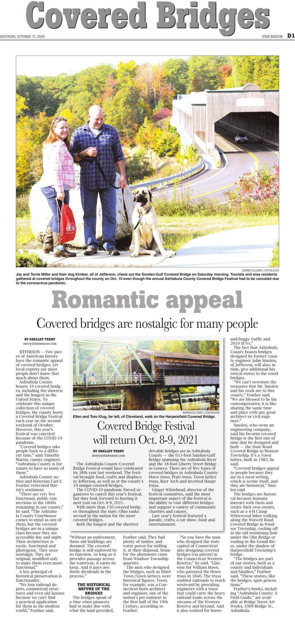 COVERED BRIDGES - Saturday, October 17, 2020