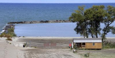 Lake Erie water levels receding