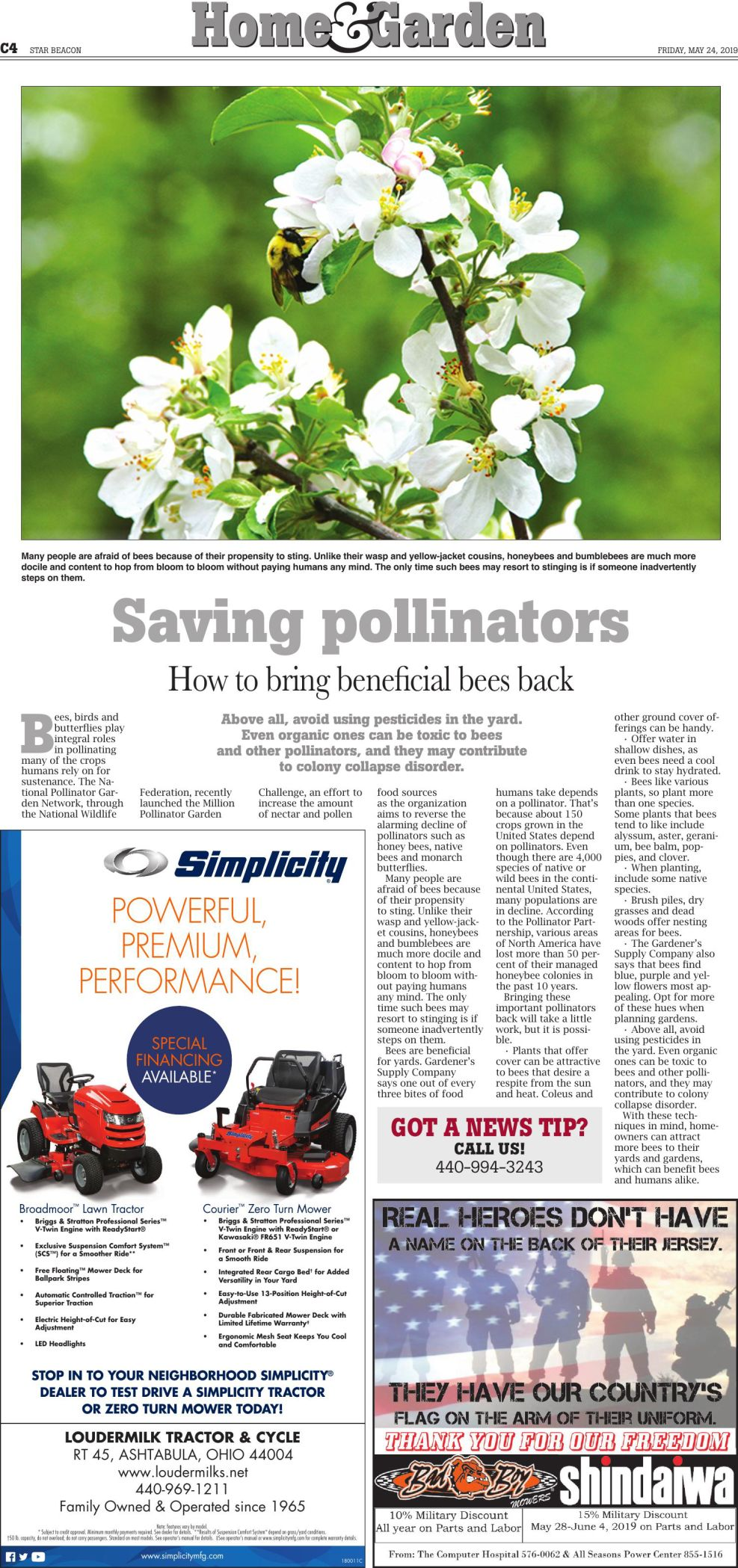 Home & Garden - May 24 Page 1