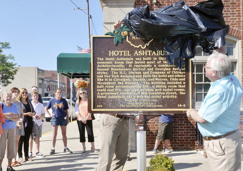 Historical Plaque Unveiled At Former Hotel Ashtabula