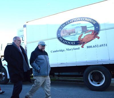 Gov. Larry Hogan tours J.M. Clayton Seafood in Cambridge