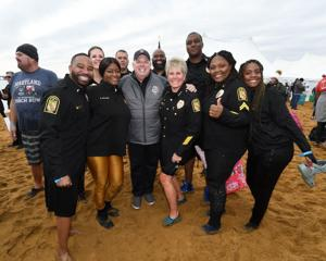 Governor attends MSP Polar Bear Plunge