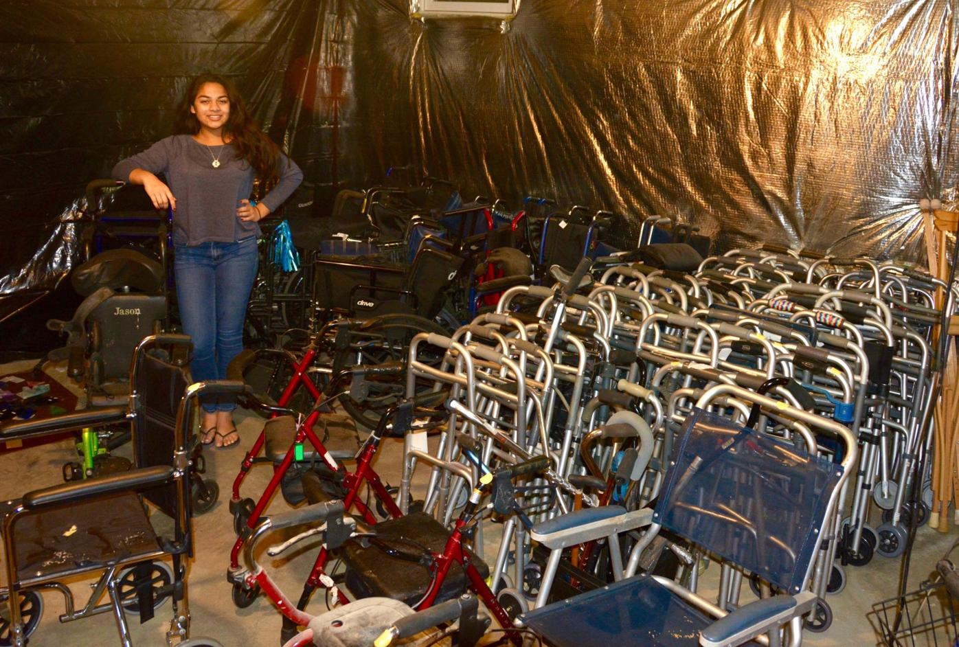 Teen collects orthopedic aids for Sri Lanka's poor
