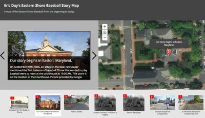 Undergrad creates interactive Shore baseball map