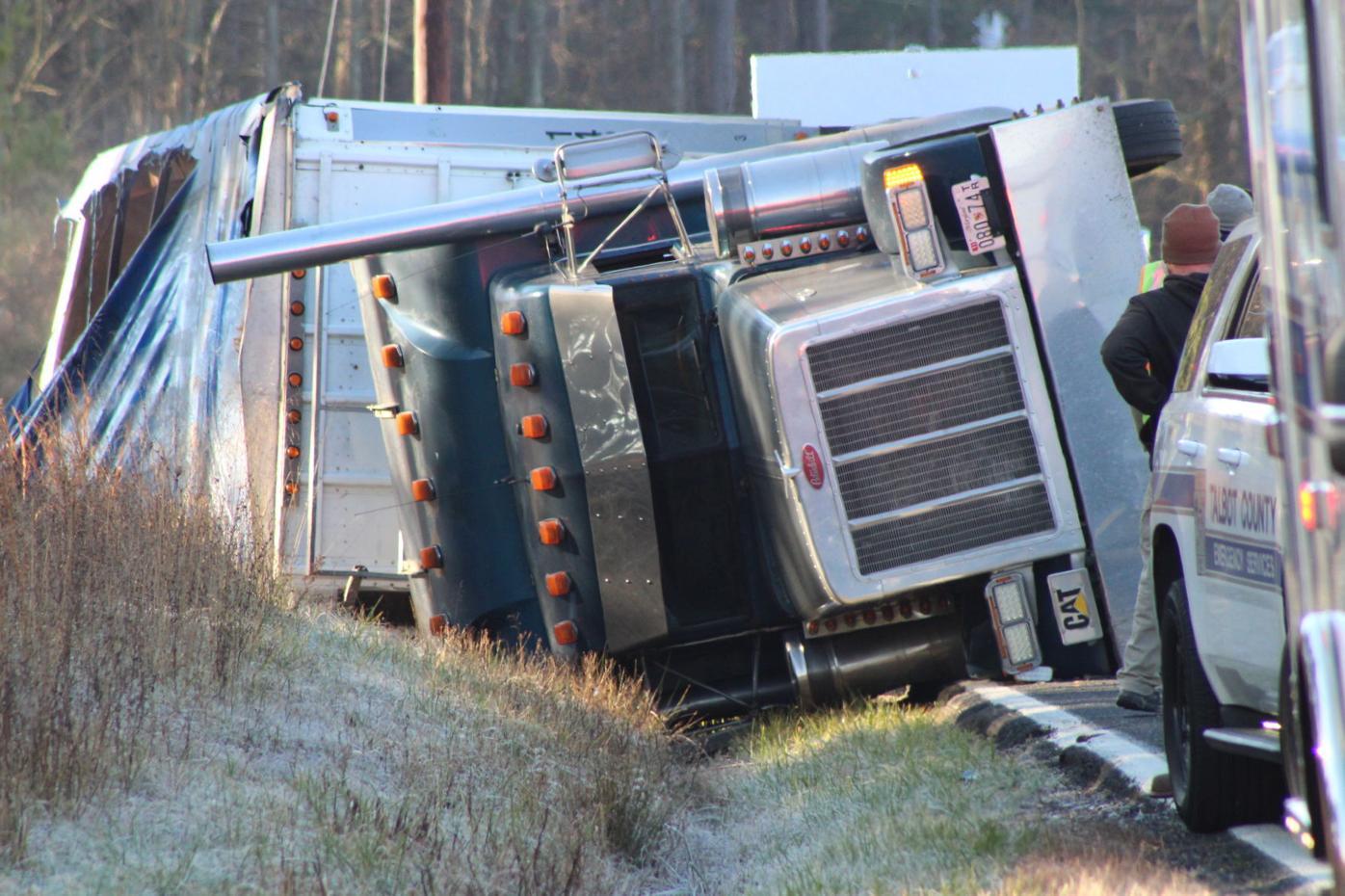 Truck wreck Easton