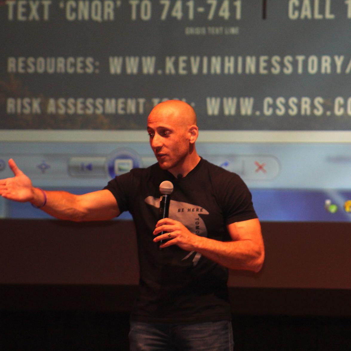 Kevin Hines speaks about suicide prevention at Chesapeake College