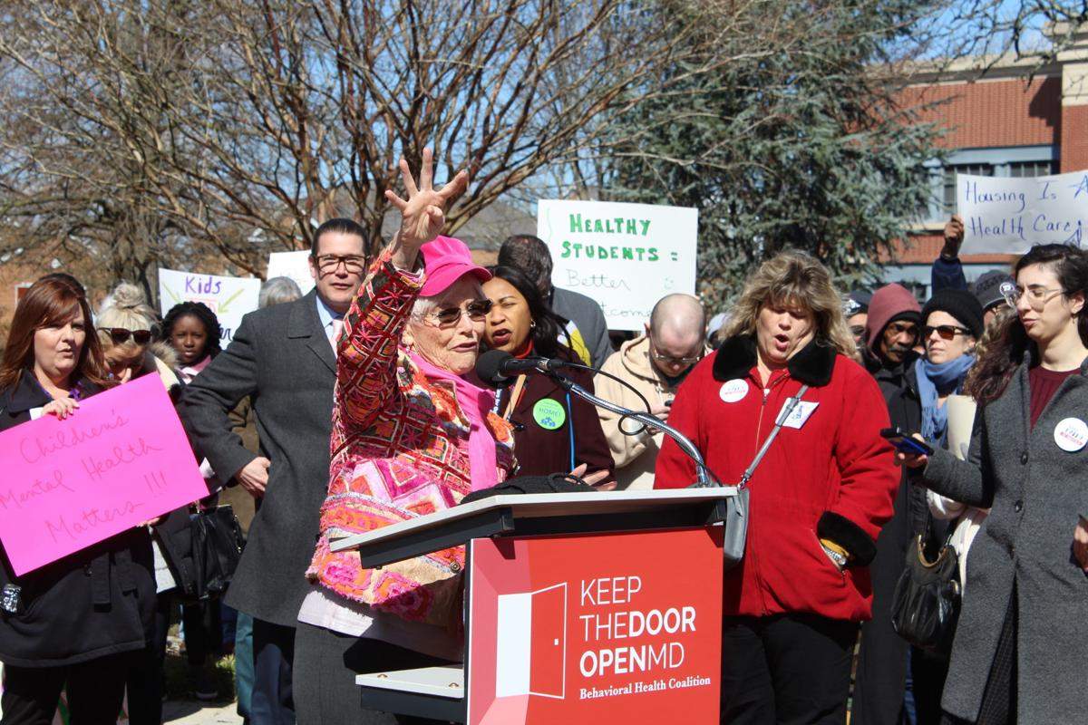 Hundreds rally against behavioral health funding cuts