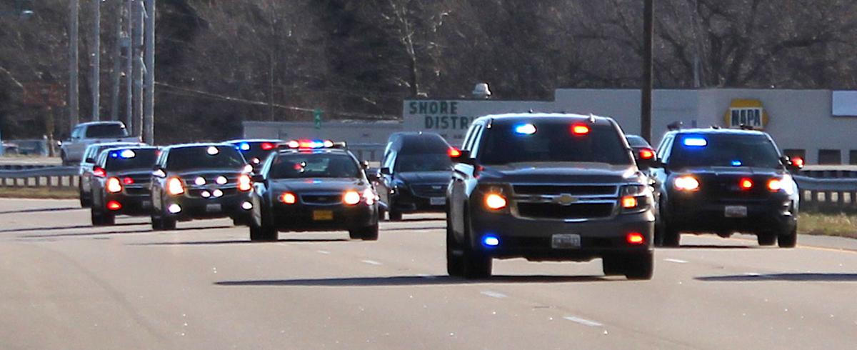 Sgt. Goble funeral procession '20